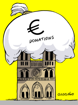 Donations for Notre Dame by Arcadio Esquivel
