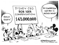 Disney CEO pay by Dave Granlund