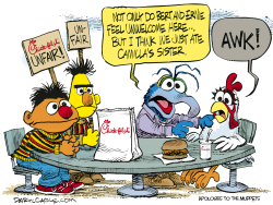 Chick-fil-A Muppets  by Daryl Cagle