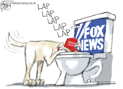 FoxNews Flush by Pat Bagley