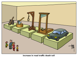 road traffic death toll by Arend Van Dam