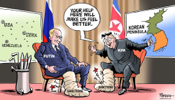 Kim-Putin summit by Paresh Nath