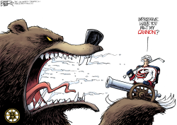 LOCAL OH CBJ vs Bruins by Nate Beeler