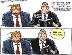Franklin Graham and Election 2020 by Kevin Siers