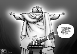 Evangelical Idolator by Nate Beeler