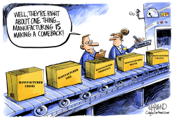Manufacturing is way up by Dave Whamond