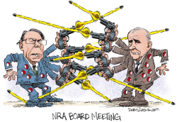 NRA Board Meeting by Daryl Cagle