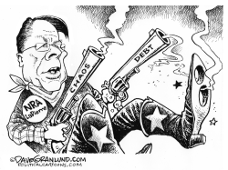 NRA debt and lawsuits by Dave Granlund