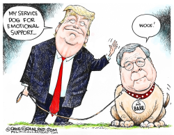 AG Barr support dog by Dave Granlund