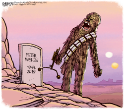 Peter Mayhew Obit by Rick McKee