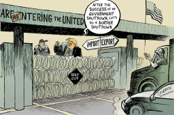 Closing the Mexico border by Patrick Chappatte