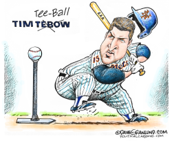 Tim Tebow NY Mets AAA by Dave Granlund