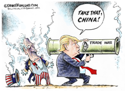 China and US trade war by Dave Granlund