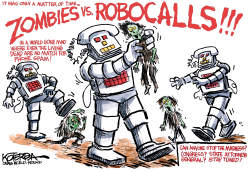 Zombies vs Robocalls by Jeff Koterba