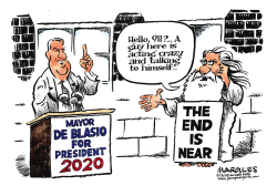 Mayor de Blasio 2020 by Jimmy Margulies
