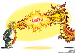 Dueling Tariff Dragons by RJ Matson