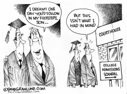 College grad and parent by Dave Granlund