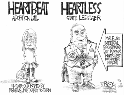 Heartless abortion ban by John Darkow