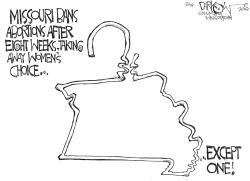 Missouri abortion law by John Darkow