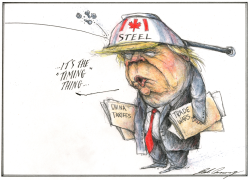 Trump lift tariffs on Canadian steel and aluminum by Dale Cummings