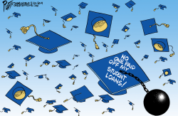 Student Loan toss by Bruce Plante