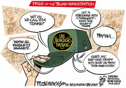 Under the Border Patrol hat by David Fitzsimmons
