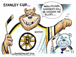 Stanley Cup Bruins vs Blues by Dave Granlund