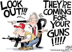 I Scam the NRA by Pat Bagley
