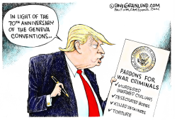 Trump and War Criminal pardons by Dave Granlund