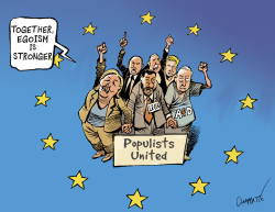 Populists of Europe unite by Patrick Chappatte
