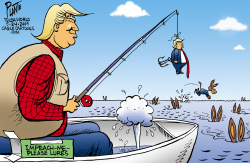 Trump fishing by Bruce Plante