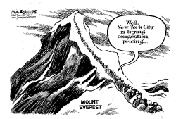 Mount Everest traffic by Jimmy Margulies
