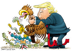 Trump Chokes Mexico by Daryl Cagle