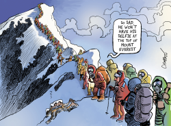 As seen from Mt Everest by Patrick Chappatte