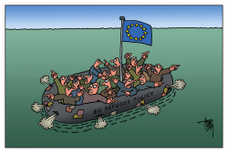 EU refugee policy by Arend Van Dam