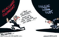 College Loans by Milt Priggee