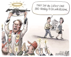 NRA - Faith based organization by Adam Zyglis