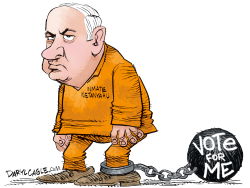 Netanyahu VOTE FOR ME  by Daryl Cagle