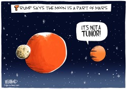Trump says Moon Is A Part of Mars by Dave Whamond