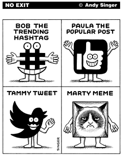 Bob The Trending Hashtag by Andy Singer