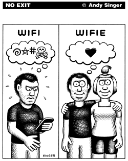WIFI WIFIE by Andy Singer