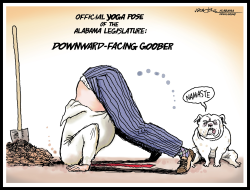 Alabama Yoga Ban by J.D. Crowe