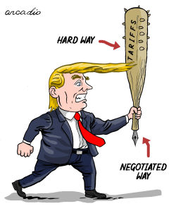 The two ways of Trump by Arcadio Esquivel