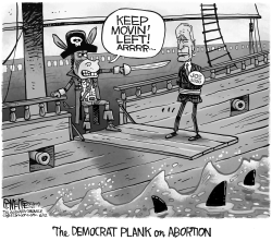 Biden Abortion Plank by Rick McKee