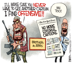 New York Times Kills Cartoons by Rick McKee