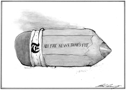 New York Times Bans Political Cartoons by Dale Cummings