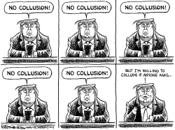 Trump on Collusion by Kevin Siers