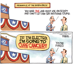 Biden To Cure Cancer by Rick McKee