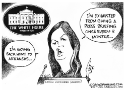 Sarah Huckabee Sanders leaving by Dave Granlund
