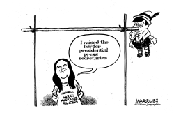 Sarah Huckabee Sanders departs by Jimmy Margulies